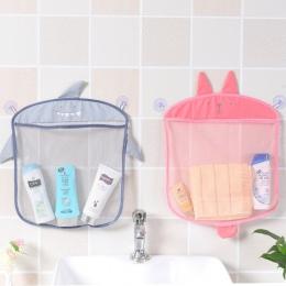 Cartoon Wall wiszące kuchnia łazienka torby do przechowywania dzianiny netto siatkowa torba zabawki do kąpieli dla dzieci szampo