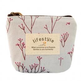 Gorąca sprzedaż Mini kwiatowy płótno monety przypadkach klucze torby zmiana karty torebka Zip portfele