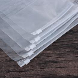 5 sztuk/partia przezroczysty pakiet z tworzywa sztucznego tkaniny podróży pokrowiec wodoodporna torba na zamek błyskawiczny, sam