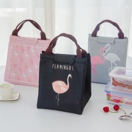 Hoomall izolowany neoprenowy pojemnik na lunch Oxford Flamingo przenośny piknik torba na lunch torebka pojemnik na żywność kuchn