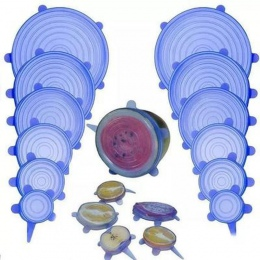 6 sztuk silikonowe Stretch uniwersalny silikonowa bariera ochronna do żywności miska pokrywka garnka pokrywa silikonowa Pan goto