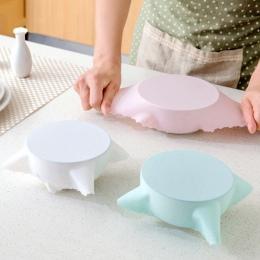 Hoomall Food Grade silikonowe Wrap żywności świeże utrzymanie Saran pokrywką wysokiej rozciągać uszczelnienie pokrywa pojemnika