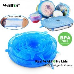 WALFOS silikonowe elastyczne pokrywki uniwersalne pokrywki silikonowa bariera ochronna do żywności miska pokrywka garnka pokrywa